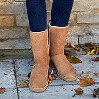 """""""UGG"""" Women Fashion Wool Snow Boots simple high long boots"""