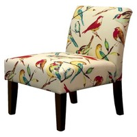 Avington Armless Slipper Chair - Birds