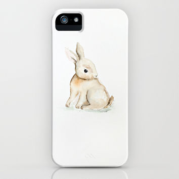 Easter bunny watercolor iPhone & iPod Case by Craftberrybush