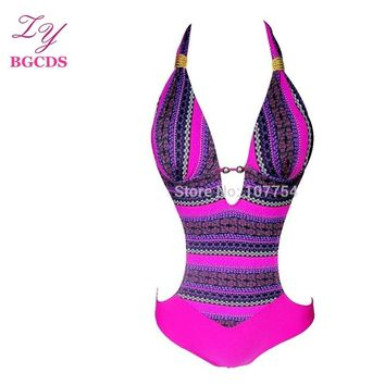 Swimsuit One Piece Swimwear Women Monokini Push Up Swimming Suit for Wome Backless Bathing Suit High Waist Trikini Biquini