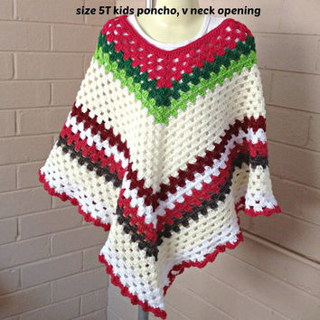 crochet ponchos, Granny square,  girls poncho, knitted ponchos, kidswear, kid's clothing, crochet top, childrens clothes, sweater, clothing