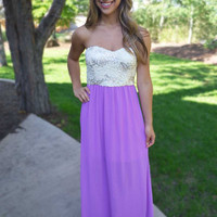 Among the Orchids Maxi Dress