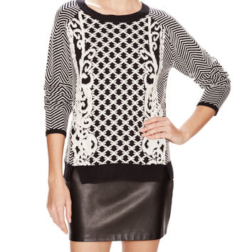 Viv Graphic Blocked Sweater