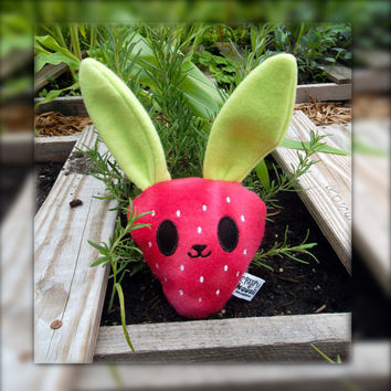 Strawbuni - Squeaking Strawberry Bunny Plush Doll (Limited Summer Edition)