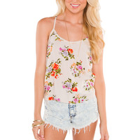 Artista Floral Top - Ivory
