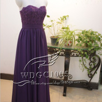 Long bridesmaid dress,romantic purple bridesmaid dress, sweetheart chiffon bridesmaid dress, cheap prom dress custom coral bridesmaid dress