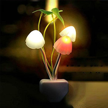 New Colours Romantic LED Mushroom Dream Night Light Bed Lamp Genial Comfortable