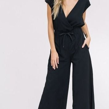 Lazy Day Palazzo Jumpsuit in Black