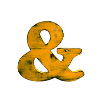 Rustic Wooden Ampersand (Pictured In Mustard) Home Decor Wooden Letters Wedding Guest Book Kids Room Nursery Photo Prop Shabby Chic