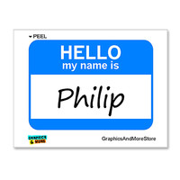Philip Hello My Name Is Sticker