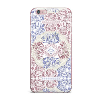 "Famenxt ""Floral Dense Garden"" Blue Brown Illustration iPhone Case"
