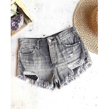 free people - loving good vibrations cut off shorts - sulphor black