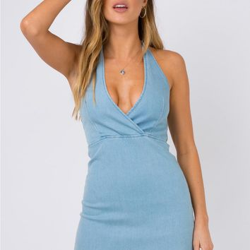 Lifehouse Denim Halter Dress