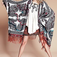 Free People  Hendrix Yarn Fringe Poncho  at Free People Clothing Boutique