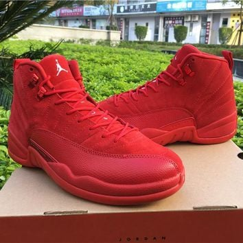Air Jordan 12 Retro Christmas Red Basketball Shoes US5.5-13