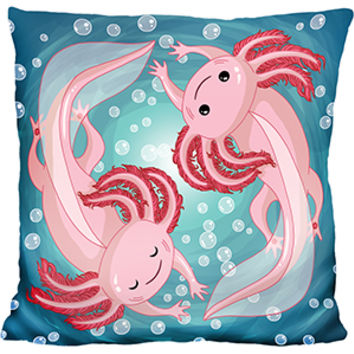 Axolotl Swirl Pillow