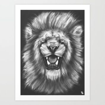 Courageous (Original drawing) Art Print by Jeremy Stout