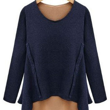 Double Layered Long Sleeve Fake T-Shirt