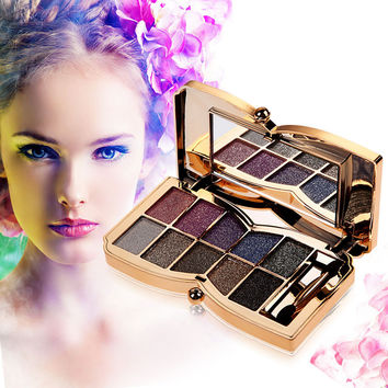 Professional Diamond Eyeshadow Palette Matte Naked Cosmetic Brush Makeup Set Eye Shadow Palette 10 Colors paleta