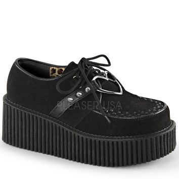 Demonia Heart Black Platform Creepers