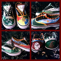 Hand Painted Shoes Inspired by Harry Potter