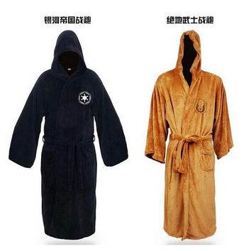 Star Wars Darth Vader / Jedi Adult Bathrobe Robes Coral Fleece