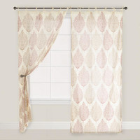 Rust Kashvi Patterned Crinkle Voile Curtain | World Market