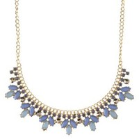 Multi Curved Faceted Stone Statement Necklace by Charlotte Russe