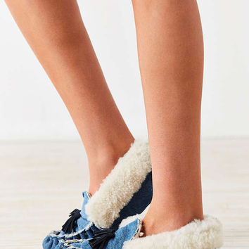 Proud Mary Denim Tassel Slipper - Urban Outfitters