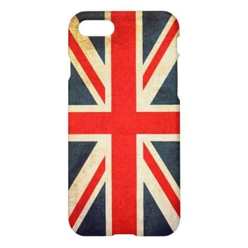 Vintage Grunge Union Jack Flag iPhone 7 Case