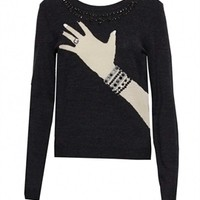 alice and olivia Hand with Ring Sweater