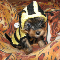 Knitted dog sweater Bee dog jumper puppy sweater by annastoikova
