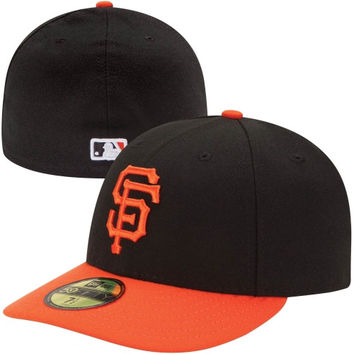New Era San Francisco Giants Low Crown AC 59FIFTY On-Field Fitted Performance Hat - Black/Orange