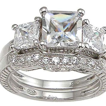 3 Ct Antique Style Wedding Engagement Ring Set