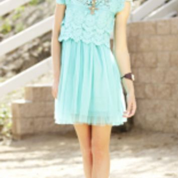 Crochet Lace Tulle Dress   Elusive Cowgirl