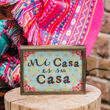 Mi Casa Mini Wall Sign