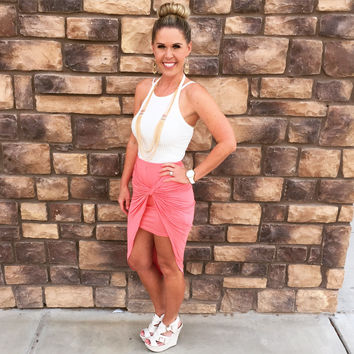 In A Knot Skirt: Coral