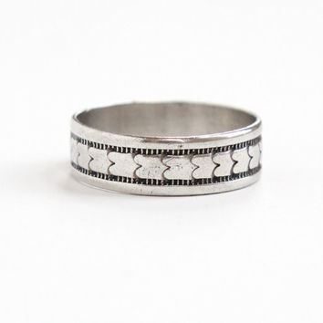 Vintage Sterling Silver Ring - Size 10 Milgrain Eternity Thick Cigar Band Men Or Womens Jewelry
