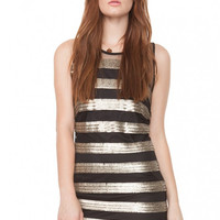 Sugarlips Gilded Stripes Dress