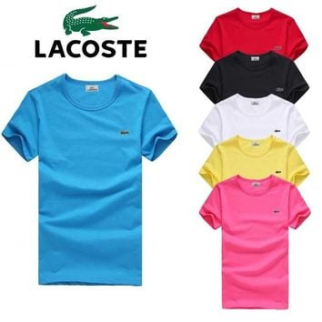 New Lacoste Big Size Mens Shirt Sleeve T shirt 100% COTTON TOP 6 Colors