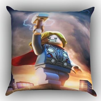 lego marvel super heroes THOR Y1233 Zippered Pillows  Covers 16x16, 18x18, 20x20 Inches
