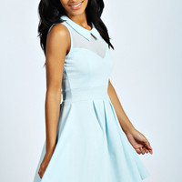 Kimberley Collar Skater Dress