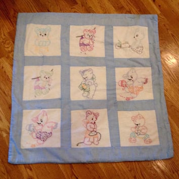 Shop Baby Quilt Blocks on Wanelo : vintage baby quilt - Adamdwight.com