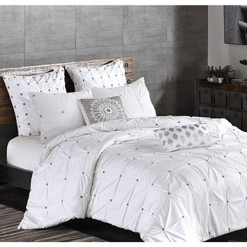 Maison White Duvet Cover Set