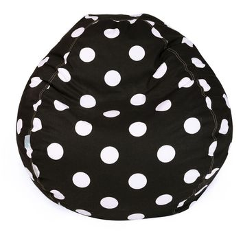 Black Large Polka Dot Small Classic Bean Bag