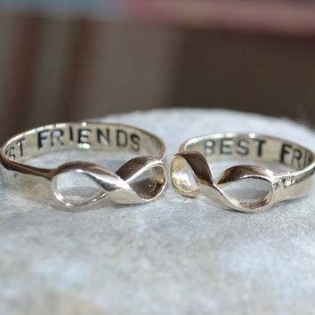 Infinity ring Best Friend Ring Sisters Ring  couples by LoLJewels