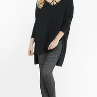 Metallic Sweater Legging from EXPRESS