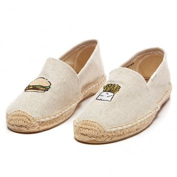 Jason Polan Burger & Fries - Mustard Yellow slip on shoes for Women from Jason Polan & Soludos - Soludos Espadrilles