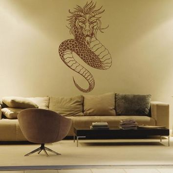 ik1602 Wall Decal Sticker Dragon mythical animal living bedroom teens