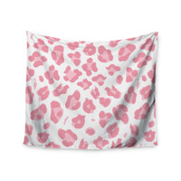 "Wildlife ""Pink Animal Print 2"" Pink Digital Wall Tapestry"